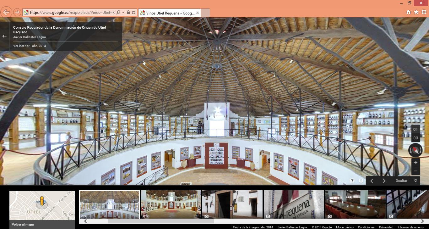 Vista interior sede DO Utiel-Requena en pantalla