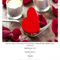 Comer o cenar San Valentin en Apicius – Restaurante Apicius