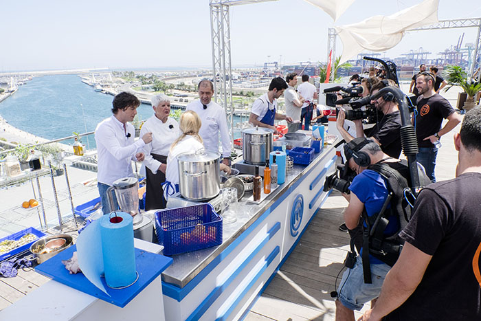 VALENCIA 05 07 2016 VLC Rodaje del programa Master Chef en el Veles e Vents - grupo La Sucursal EN LA IMATGE / IMAGEN : photo: ©2016vicentbosch