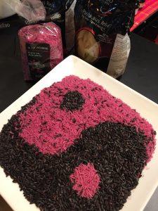 Arroz, gourmet, gastronomía, rosa