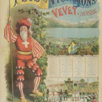 Fête des Vignerons, Vevey. Affiche de l'année 1889