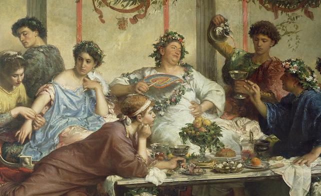 Il triclinio (Roberto Bompiani). Getty Museum.